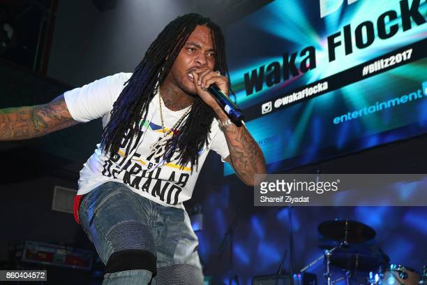 Waka Flocka Flame attends Blitz Music Showcase at Stage 48 on October 11 2017 in New York City