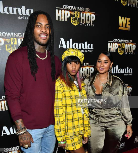 Waka Flocka Flame Charlie Rivera and Tammy Rivera attend 'WE tv Celebrates The Return Of Growing Up Hip Hop Atlanta' at Club Tongue Groove on October...