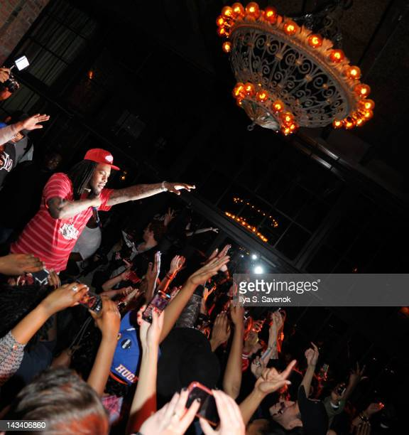 Waka Flocka Flame performs at SPIN's May/June issue release party at The Bowery Hotel on April 25 2012 in New York City