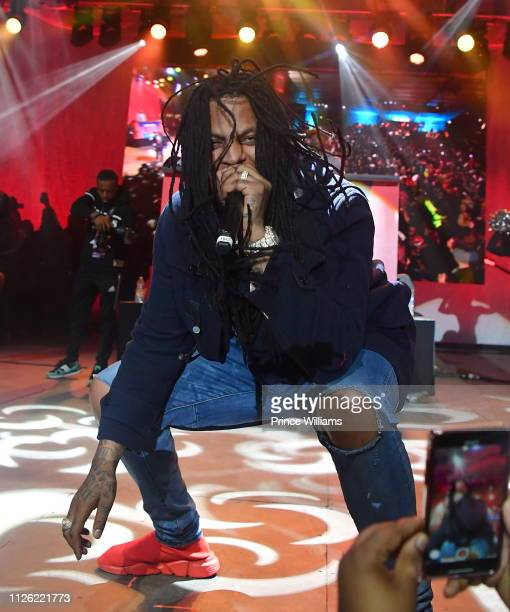 Waka Flocka performs at 2019 Super Bowl Live at Centennial Olympic Park on January 26 2019 in Atlanta Georgia