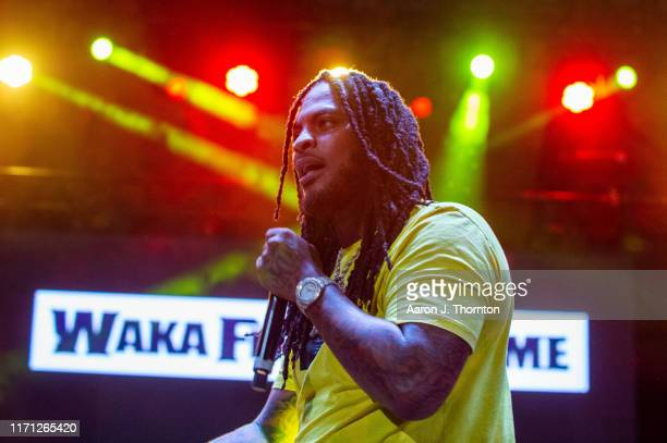 Waka Flocka performs onstage at The Aretha Franklin Amphitheatre on August 30 2019 in Detroit Michigan