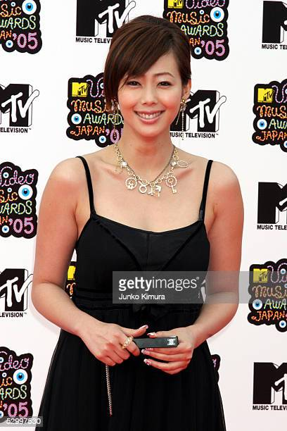 Waka Inoue arrives for the MTV Video Music Awards Japan 2005 on May 29 2005 in Urayasu Chiba Prefecture Japan
