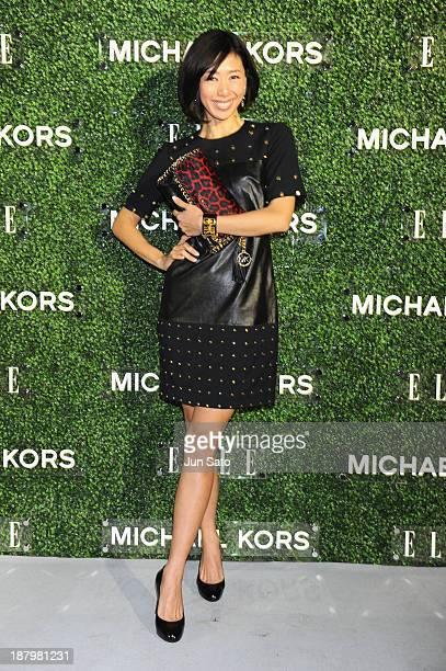 Waka Nozawa attends 'Michael Kors and Miranda Kerr Celebrate Elle Japon December Cover' party at the Gallery of Horyuji Treasures of the Tokyo...