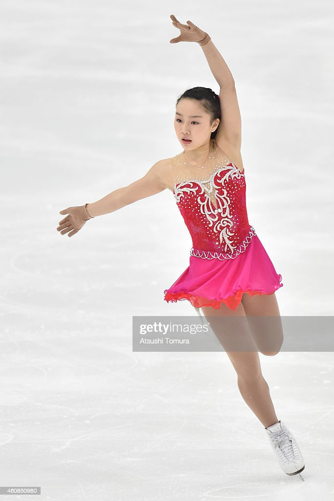 Wakaba Higuchi of Japan competes in Ladie's Short Program during the 83rd All Japan Figure Skating Championships at the Big Hat on December 27, 2014 in Nagano, Japan.