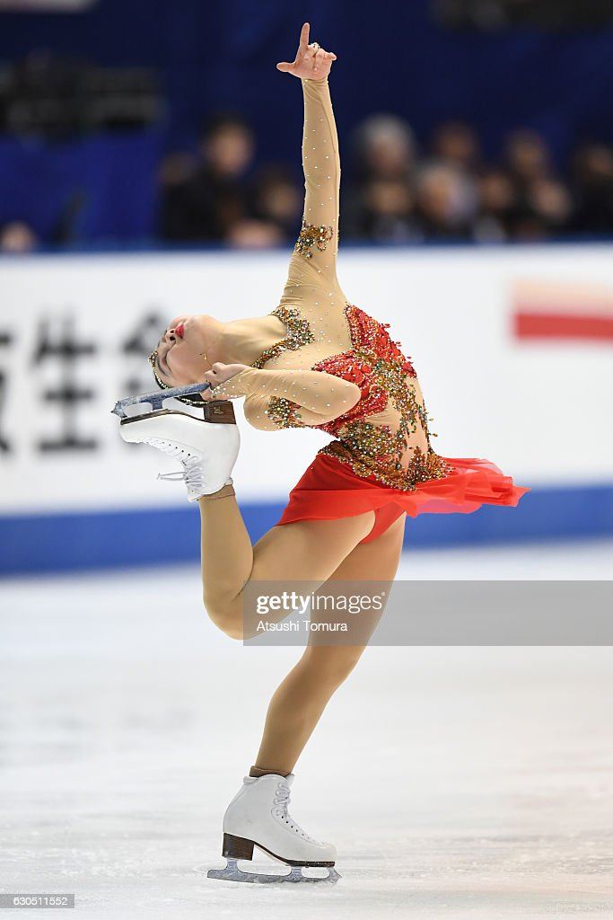 Wakaba Higuchi of Japan competes in the Ladies free skating during the Japan Figure Skating Championships 2016 on December 25, 2016 in Kadoma, Japan.