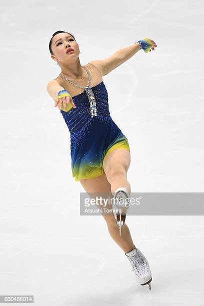 Wakaba Higuchi of Japan competes in the Ladies short program during the Japan Figure Skating Championships 2016 on December 24 2016 in Kadoma Japan
