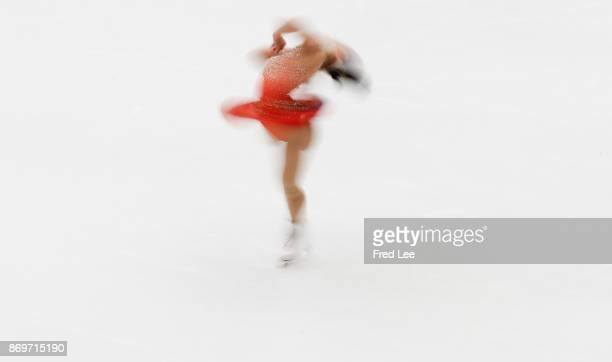 Wakaba Higuchi of Japan competes in the Ladies Short Program on day one of the ISU Grand Prix of Figure Skating at on November 3 2017 in Beijing China