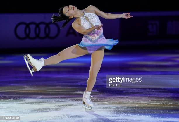 Wakaba Higuchi of Japan performs during the Exhibition Program on day three of Audi Cup of China ISU Grand Prix of Figure Skating 2017 at Beijing...