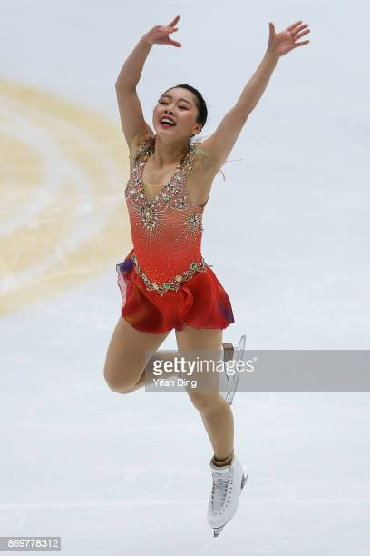 Wakaba Higuchi of Japan performs during the Ladies Short Program on Day 1 of the ISU Grand Prix of Figure Skating at on November 3 2017 in Beijing...
