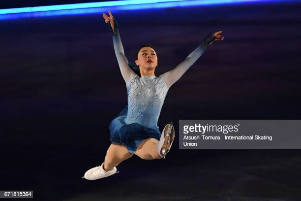 Wakaba Higuchi of Japan performs in the gala exhibition during the day 4 of the ISU World Team Trophy 2017 on April 23 2017 in Tokyo Japan
