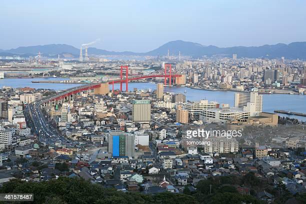 wakamatsu cityscape - 北九州市 ストックフォトと画像