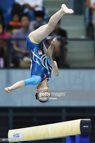 Wakana Inoue of Japan competes in the Balance Beam during the 68th All Japan Gymnastics Apparatus Championships on July 6 2014 in Chiba Japan