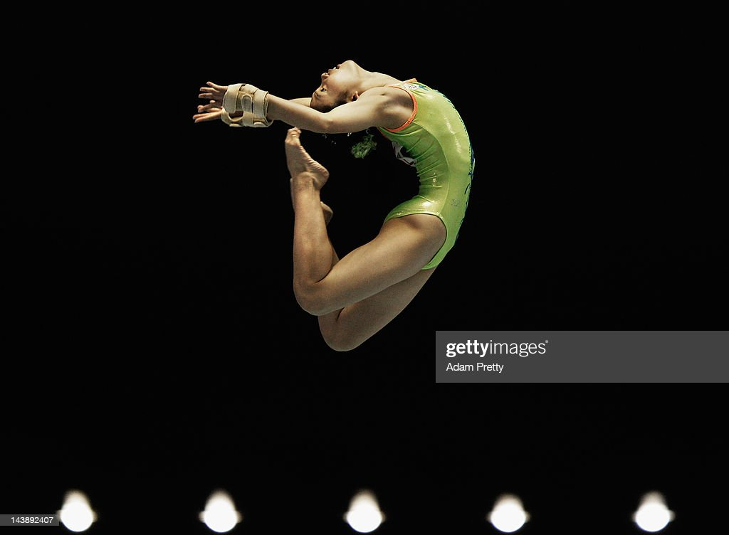 Wakana Inoue of Japan performs her balance beam routine during day two of the Artistic Gymnastics NHK Trophy at Yoyogi National Gymnasium on May 5, 2012 in Tokyo, Japan.