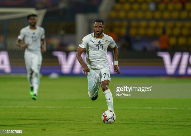 Wakaso Mubarak of Ghana during the 2019 African Cup of Nations match between Benin and Guinea-Bissau at the Ismailia stadium in Ismailia, Egypt on...