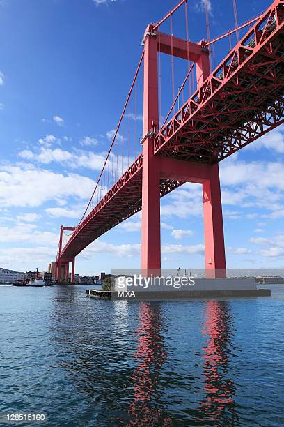 wakato bridge, kitakyushu, fukuoka, japan - 北九州市 ストックフォトと画像