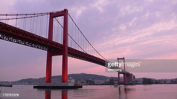 wakato bridge - 福岡県 ストックフォトと画像