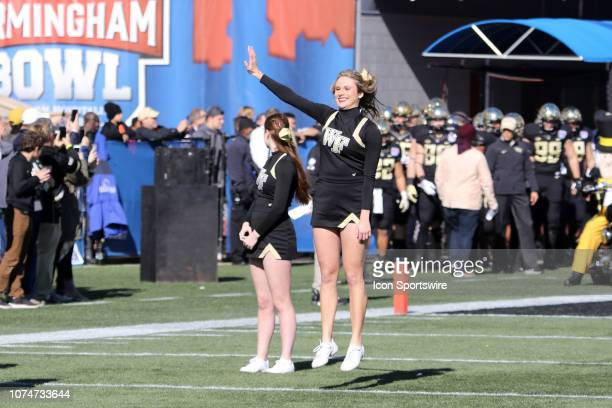 Wake Forest Demon Deacons cheerleaders at the Birmingham Bowl between the Memphis Tigers and the Wake Forest Demon Deacons on December 22 2018 at...