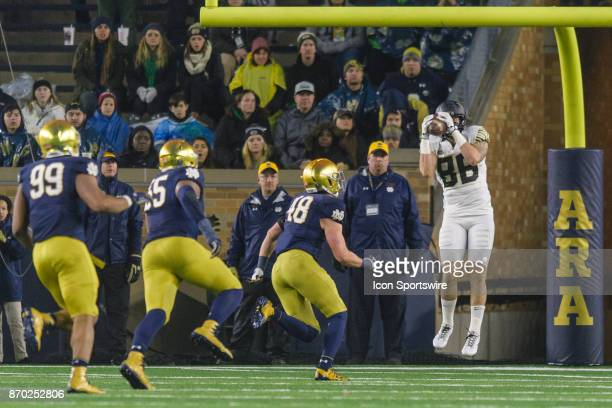 Wake Forest Demon Deacons tight end Jack Freudenthal makes a touchdown reception in the 4th quarter during a college football game between the Wake...