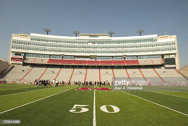 Wake Forest goes through a pre-game walk-through at Memorial Stadium prior to their game versus the Nebraska Cornhuskers in Lincoln, NE, September...