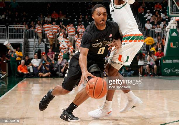 Wake Forest guard Brandon Childress plays during a college basketball game between the Wake Forest University Demon Deacons and the University of...