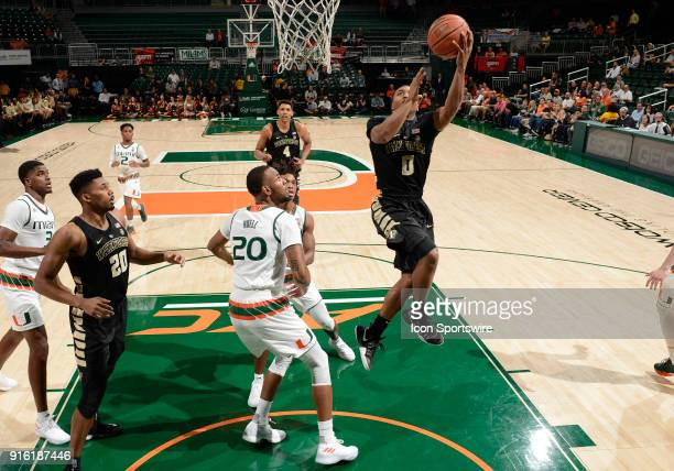 Wake Forest guard Brandon Childress shoots during a college basketball game between the Wake Forest University Demon Deacons and the University of...