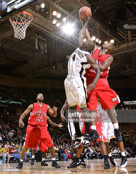 Wake Forest guard Harvey Hale battles for a rebound with WinstonSalem State guard Curtis Hines during the second half of the Demon Deacons 8884...