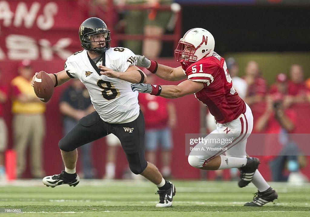 NCAA Football - Wake Forest vs Nebraska - September 10, 2005 : News Photo