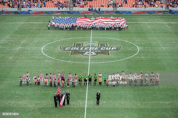 Wake Forest University takes on Stanford University during the Division I Men's Soccer Championship held at the BBVA Compass Stadium on December 11...