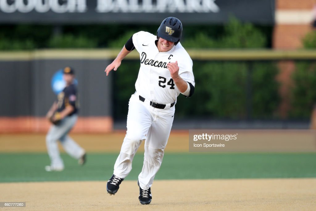 Wake Forest's Gavin Sheets. The Wake Forest Demon Deacons hosted the University of Maryland Baltimore County Retrievers on June 2, 2017, at David F. Couch Ballpark in Winston-Salem, NC in NCAA Division I College Baseball Tournament Winston-Salem Regional Game 2. Wake Forest won the game 11-3.