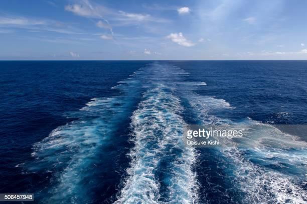 A Wake of Cruise Ship