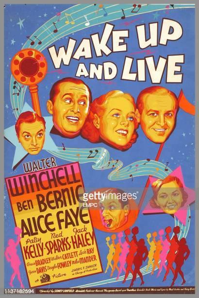 Jack Haley Ben Bernie Alice Faye Walter Winchell bottom from left Ned Sparks Patsy Kelly 1937