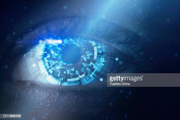 wake up of robot - the eyes have it stock pictures, royalty-free photos & images
