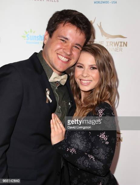Wakeboarder Chandler Powell and conservationist/TV personality Bindi Irwin attend the Steve Irwin Gala Dinner 2018 at SLS Hotel on May 5 2018 in...