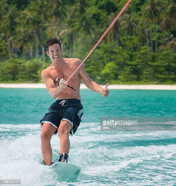 Wakeboarding on tropical Waters
