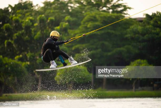 wakeboarding - individual event stock pictures, royalty-free photos & images