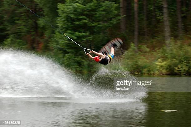 wakeboarding - cavo d'acciaio foto e immagini stock