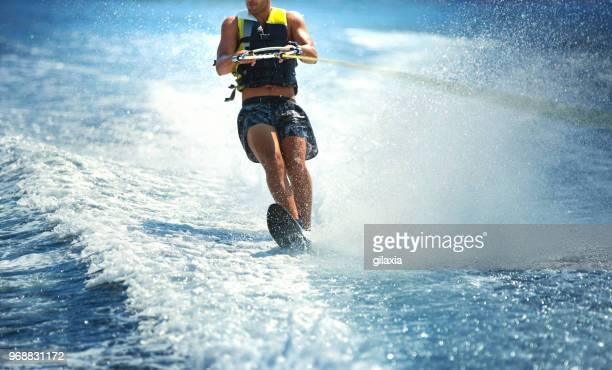 wakeboarding. - waterskiing stock photos and pictures
