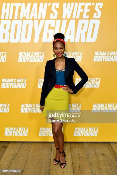"""Wakeema Hollis attends the """"Hitman's Wife's Bodyguard"""" special screening at Crosby Street Hotel on June 14, 2021 in New York City."""