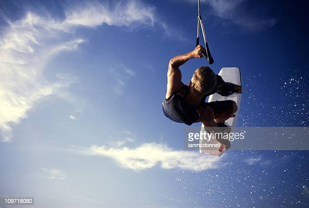 wakerboard air - waterskiing stock photos and pictures