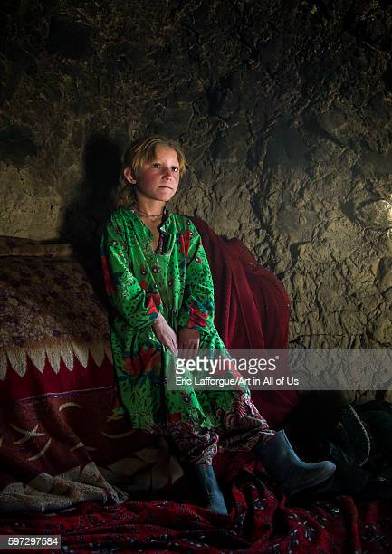Wakhi nomad girl with blonde hair big pamir wakhan Afghanistan on August 10 2016 in Wakhan Afghanistan