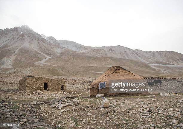 Wakhi yurt with a solar panel big pamir wakhan Afghanistan on August 12 2016 in Wakhan Afghanistan