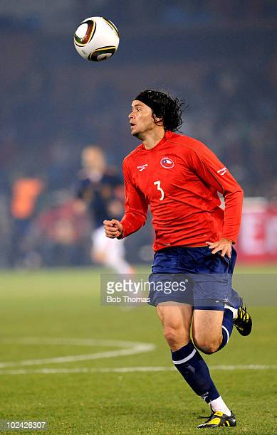 Waldo Ponce of Chile in action during the 2010 FIFA World Cup South Africa Group H match between Chile and Spain at Loftus Versfeld Stadium on June...
