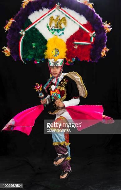 Waldo Vazquez from Villa de Zaachila rehearses the Feather Dance for the Guelaguetza traditional festival in Oaxaca Mexico on July 29 2018...