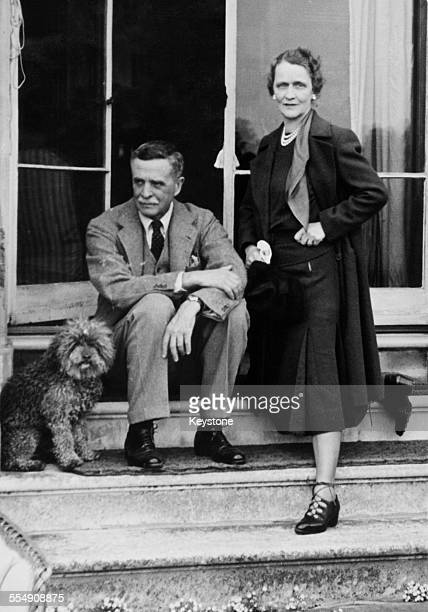 Waldorf Astor, 2nd Viscount Astor with his wife, American-born English socialite and politician Nancy Astor, Viscountess Astor , at their home,...