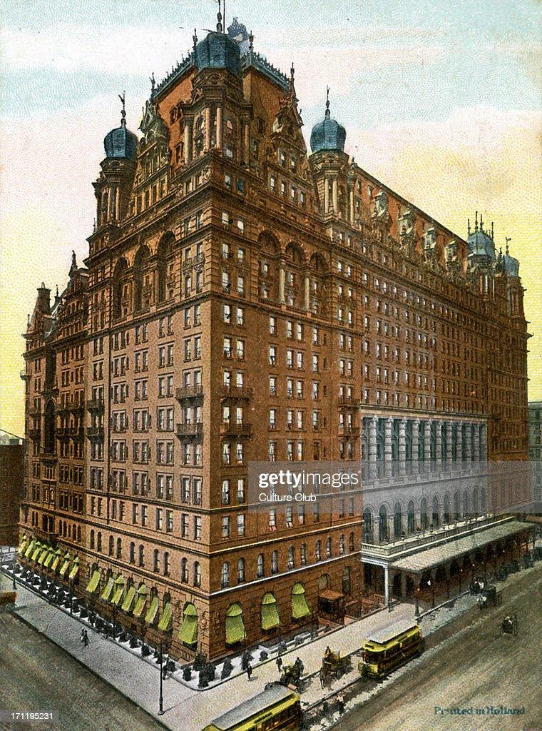 Waldorf Astoria hotel New York, : ニュース写真