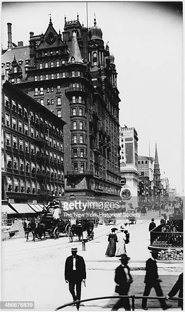 Waldorf Hotel northwest corner of Fifth Avenue and E 33rd Street New York New York 1904 View looking north