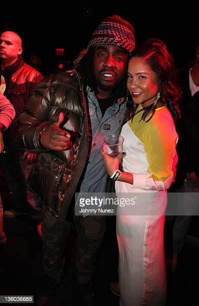 Wale and Angela Yee attend the Best Buy Theatre on December 19 2011 in New York City