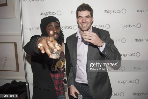Wale and Billy McFarland attend Wale performs at Magnises Holiday Party at Magnises House Soho on December 14 2013 in New York City