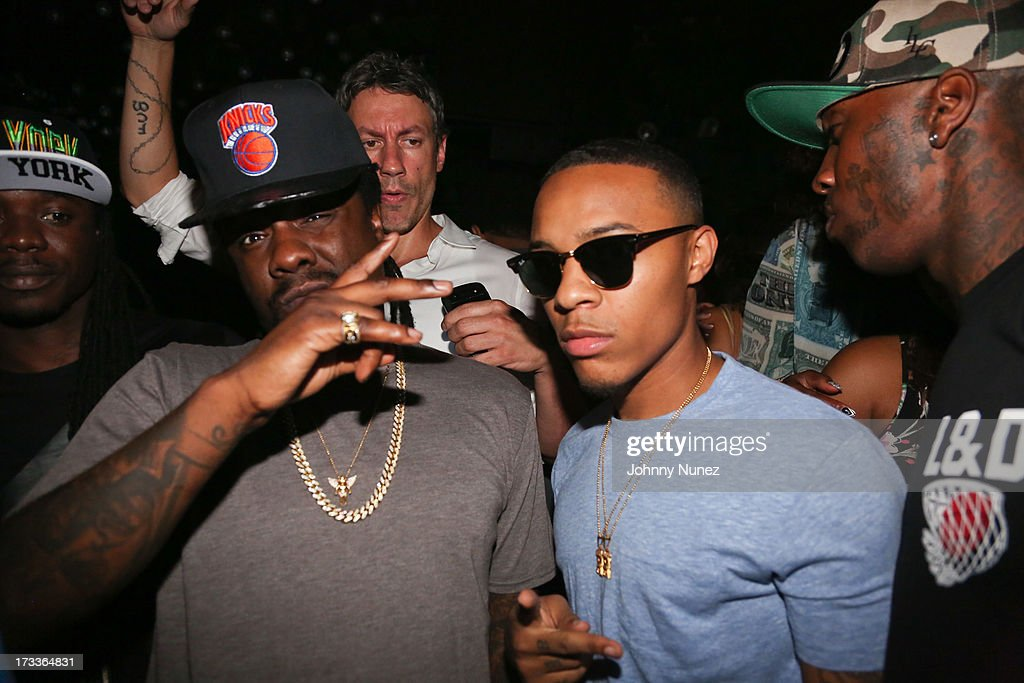 Wale and Bow Wow attend The D9 Agenda After Party Featuring Wale at Greenhouse on July 11, 2013 in New York City.