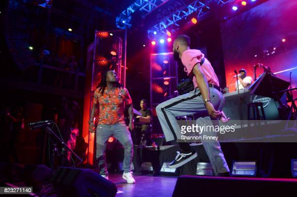 Wale and Chaz French perform onstage at the BETX On The Road DMV Concert at The Fillmore Silver Spring on July 26 2017 in Silver Spring Maryland